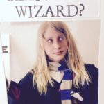 Child with have you seen this wizard sign