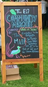 Community Marquee at the Walthamstow Garden Party