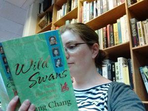 Helen J reading Wild Swans