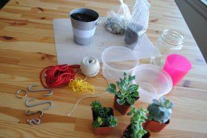 Eco craft project materials
