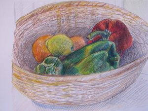 Still life of vegetables by Sara at Open Learning Blog