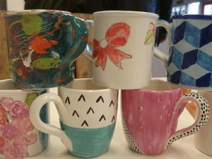 Pop-up Pottery mugs