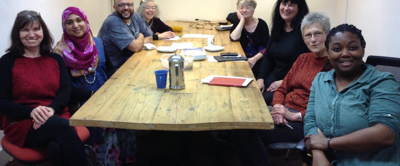 Group of volunteers in The Mill meeting room